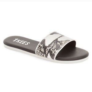 Madewell TKEES Snake Slide Sandals